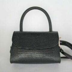 Kosmeoo Bags - Crossbody tas - Handgemaakt - Italiaans leer - Fay Zwart