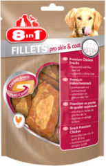 8in1 Fillets Pro Small - Hondensnacks - 80 g Skin & Coat - Hondenvoer