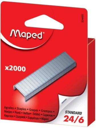 Afbeelding van Grijze Maped Office Maped nietjes 24/6 doos van 2.000 nietjes