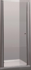 Douchedeur Allibert Priva 76-80x190 cm Zwaaibaar Geruite Glaswand Chroom