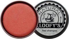 Loofy's - Shampoo bar RED grapefruit - voor alle haartypes - plastic vrij, óók de verpakking (!) - 70 gram - Loofys