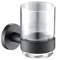 Bekerhouder Plieger Vigo met Glas Mat Zwart