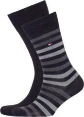 Tommy Hilfiger Sokken (regular) - Maat 43-46 - Unisex - zwart/ grijs/ donker grijs