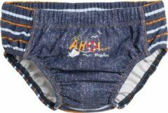 Playshoes UV wasbare Zwemluier Kinderen Jeans - Blauw - Maat 74/80