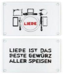 Frühstücksbrett-Set, 2-tlg. IMPRESSIONEN living schwarz/rot