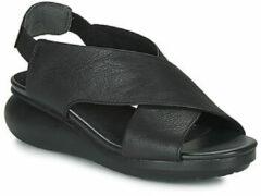Zwarte Comfortabele Sandalen Zwart Camper