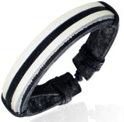 Witte Lookinggoodtoday Leren armband Multi Wrap Rope
