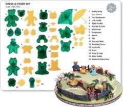 Groene JEM Cutters JEM Dress-A-Teddy Set - Set/16|Uitsteekset Teddy beer en kleertjes