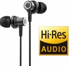 Tuddrom R3 Zwart - Hi-Res Metalen In Ear Oordopjes met Microfoon - Titanium High Quality Dynamic Drivers - 2 Jaar Garantie
