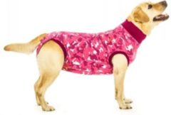 Roze SUITICAL Dog Recovery Suit (rompertje hond), FBD-XXL, Camo Pink, Maat XXL (ruglengte 80-92 cm) ZIE TABEL