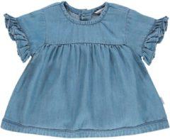 Blauwe Noppies Meisjes Jurk Poulsbo - Light Blue Wash - Maat 68