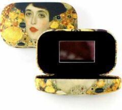 Gele LANZFELD Lipstick-lens-reis doosje, Klimt, Portret Adèle Bloch-Bauer