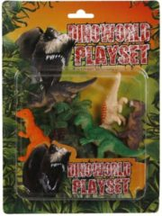 Dino World Dinoworld Speelset Dinosaurussen 8 Cm 7-delig