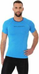 Brubeck fietskleding fietsshirt heren 3d pro naadloos wielren mountainbike fiets trainingsshirt korte mouw blauw