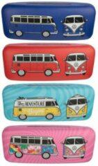 Rode Puckator Brillenkoker volkswagenbus /campervan VW T1 . Kleur naar keuze