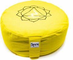 Spiru Meditatiekussen Katoen Geel – 3e Chakra Solar Plexus – 36 x 15 cm