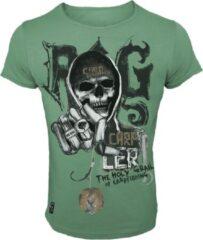 Groene Hotspot Design T-Shirt Rig - Maat M