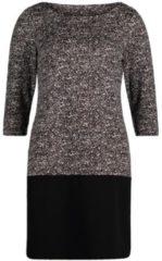 Casual-Kleid mit Blockstreifen Cartoon Schwarz/Weiß - Grau