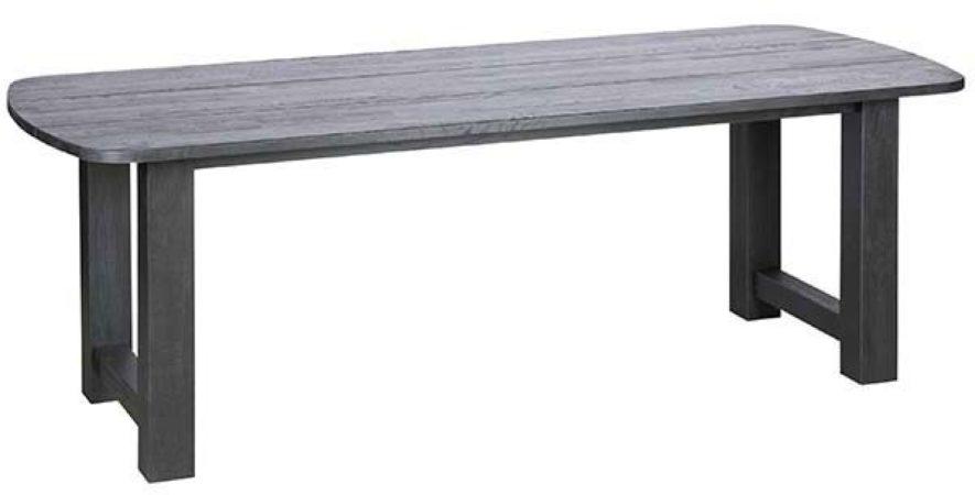 Afbeelding van Zwarte BePureHome Be Pure Home Eetkamertafel Identity 220 x 90 x 76 cm zwart hout