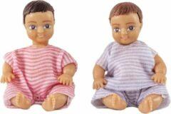 Bruine Lundby poppenhuis Set - Twee baby's