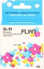 FLWR - Inktcartridge / CL-51 / Kleur - Geschikt voor Canon