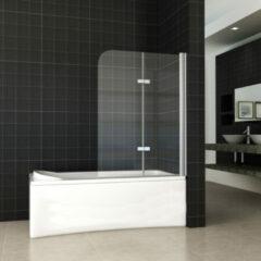Douche Concurrent Badwand Eco 2-Delig 100x140cm Antikalk Helder Glas Chroom Profiel 6mm Veiligheidsglas Easy Clean