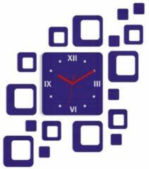 Mandee.nl Roman 3D Zelfklevende Wandklok Paars 60 CM X 52 CM