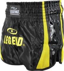Gele Legend Sports Kickboks Broekje Black & Yellow L