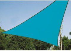Lichtblauwe Planet24 SCHADUWDOEK ZONNEZEIL DRIEHOEK 3,6 x 3,6 x 3,6 meter - kleur: Hemelsblauw