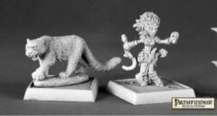 Reaper Miniatures 60020 Lini, Iconic Druid & Droogami