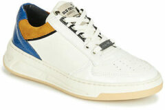 Witte Bronx Old-Cosmo leren sneakers off white/blauw