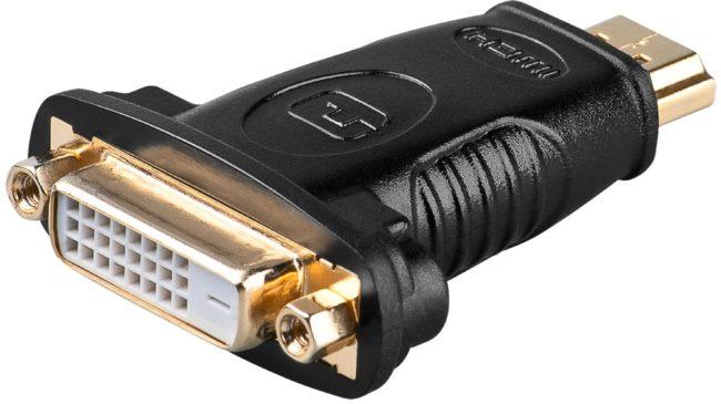 Afbeelding van Goobay A 323 G HDMI M DVI-D 24+1p F Zwart kabeladapter/verloopstukje