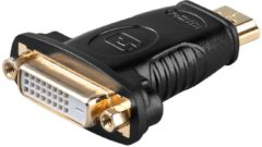 Goobay A 323 G HDMI M DVI-D 24+1p F Zwart kabeladapter/verloopstukje