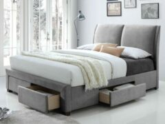 Rousseau Bed Babano 160x200 - grijs