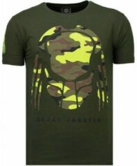 Local Fanatic Predator - Rhinestone T-shirt - Groen Predator - Rhinestone T-shirt - Wit Heren T-shirt Maat XL