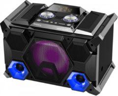 Zwarte Ibiza Sound SPLBOX400 400w sound box usb fm bt mic input