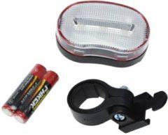 Zwarte K-parts Fietslamp Voor 3x LED Wit