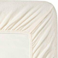 Fluweel Zachte Badstof Hoeslaken Eenpersoons Ivoor | 90x200/210/220 | Hoogwaardige Kwaliteit | Perfecte Pasvorm