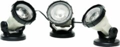 Zwarte Heissner Vijververlichting Draaibaar Led 3-delig 3 Watt