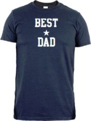 Marineblauwe Simply colors Vaderdag T-shirt | best dad | maat M
