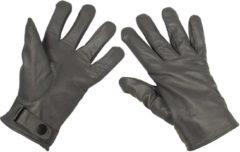 MFH Army leren handschoenen gevoerd grijs, MAAT XL