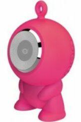 Zwarte Nevox Conceptronic CSPKBTWPHFP Wireless Bluetooth Waterproof Speaker [180-16KHz IPX5, USB 400mA, Pink]
