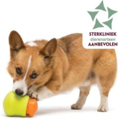 West Paw Zogoflex Toppl - Hondenspeelgoed - S - Granny smith Groen