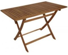 Bruine Brulo Opklapbare houten tuintafel 120 x 70 cm acaciahout FSC