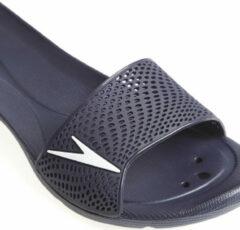 Marineblauwe Speedo Atami Ii Max Dames Slippers - Marine-Wit - Maat 35,5