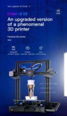 Zwarte Creality 3D Creality Ender-3 v2 nieuwste 3D-printer
