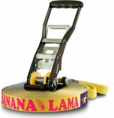 Gibbon Slacklines - Bananalama XL Treewear Set - Slackline maat 25 m, blauw/geel