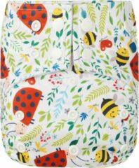 HappyBear - Pocketluier Lieveheersbeestjes   4-15kg - Onesize - Wasbare luiers - Herbruikbare luiers