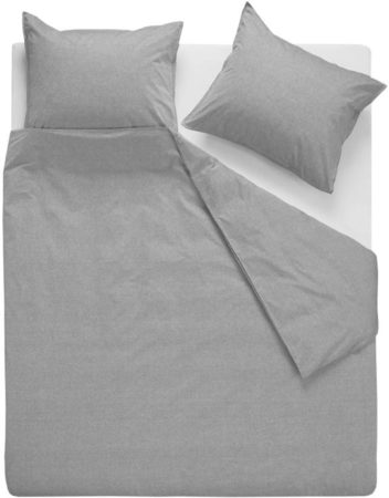Afbeelding van VTwonen Double Cord dekbedovertrek - 100% katoen - 1-persoons (140x200/220 cm + 1 sloop) - Grey