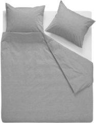 VTwonen Double Cord dekbedovertrek - 100% katoen - 1-persoons (140x200/220 cm + 1 sloop) - Grey